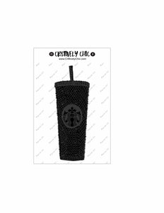 Black Matte Starbucks Tumbler die cut digital