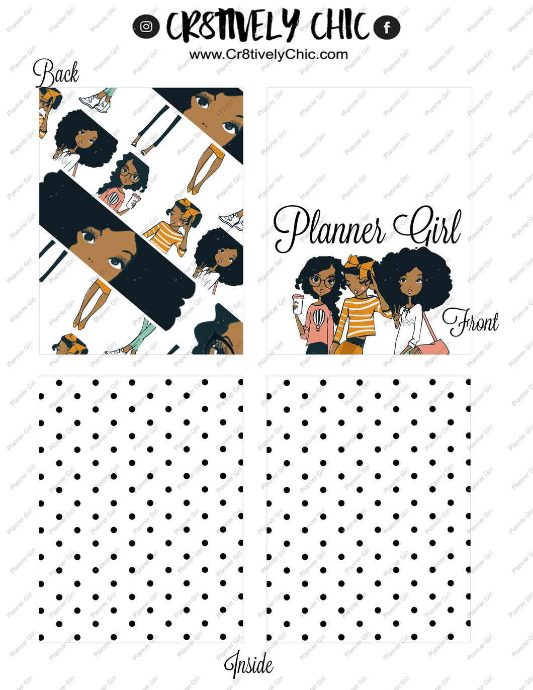 Planner Girl  Micro Happy Notes Cover digital