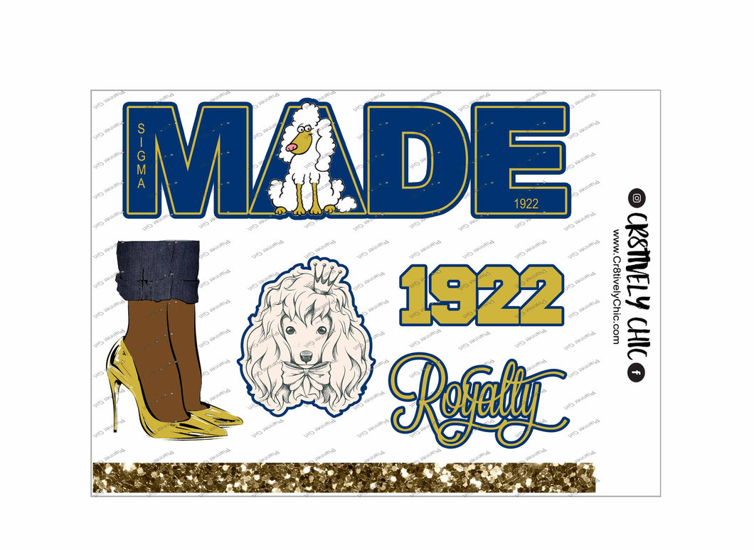 Poodle and Heels deco sheet digital