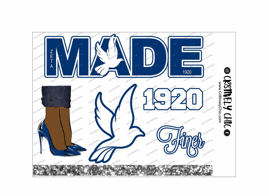 Dove and Heels deco sheet digital