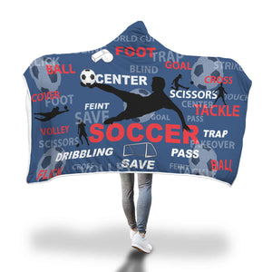 AWESOME Soccer Hooded Blanket
