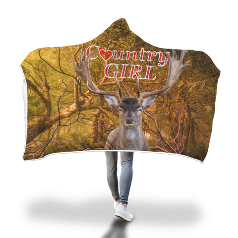 AWESOME Country Girl Hooded Blanket