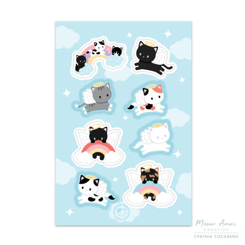 Angel Cats Stickersheet