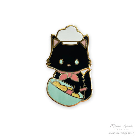 Biscuit Baker Cat Enamel Pin