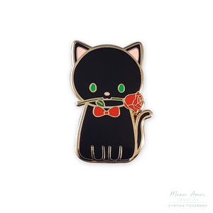 Romantic Cat Enamel Pin