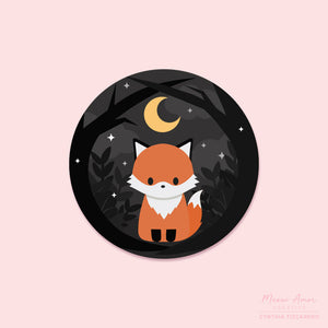 Dark Forest Fox Vinyl Sticker