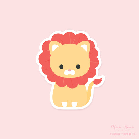 Lion Vinyl Sticker