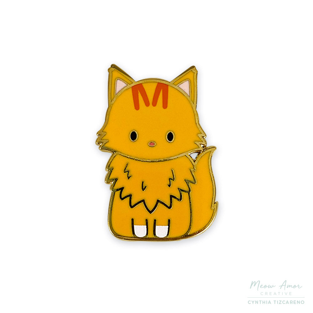 Mango the Maine Coon Cat Enamel Pin