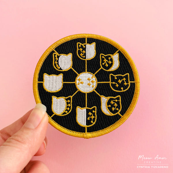 Cat Moonphase Iron-On Patch