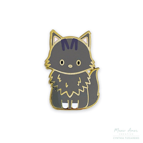 Mimi the Maine Coon Cat Enamel Pin