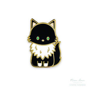 Moon the Maine Coon Cat Enamel Pin