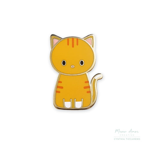 Orange Tabby Cat Enamel Pin