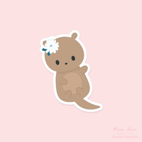 Otter Vinyl Sticker