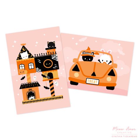 Halloween Postcard Set of 6
