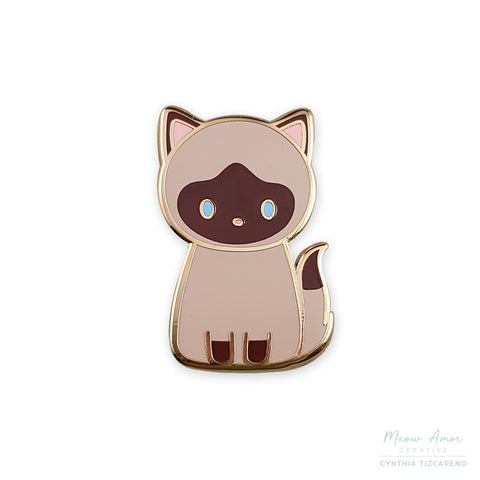 Siamese Cat Enamel Pin