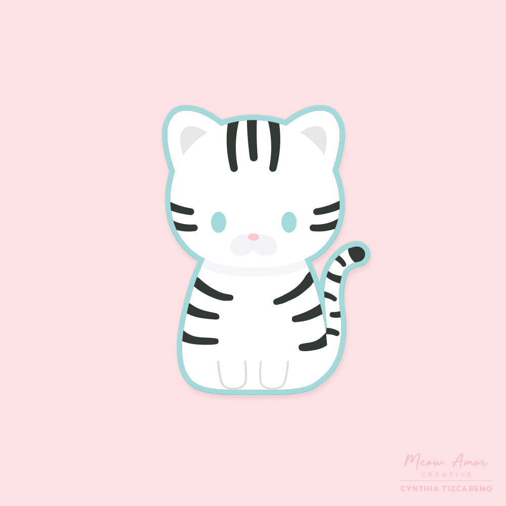 White Tiger Vinyl Sticker
