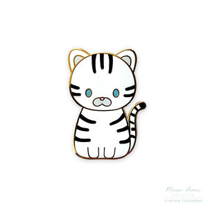 Snow Tiger Enamel Pin