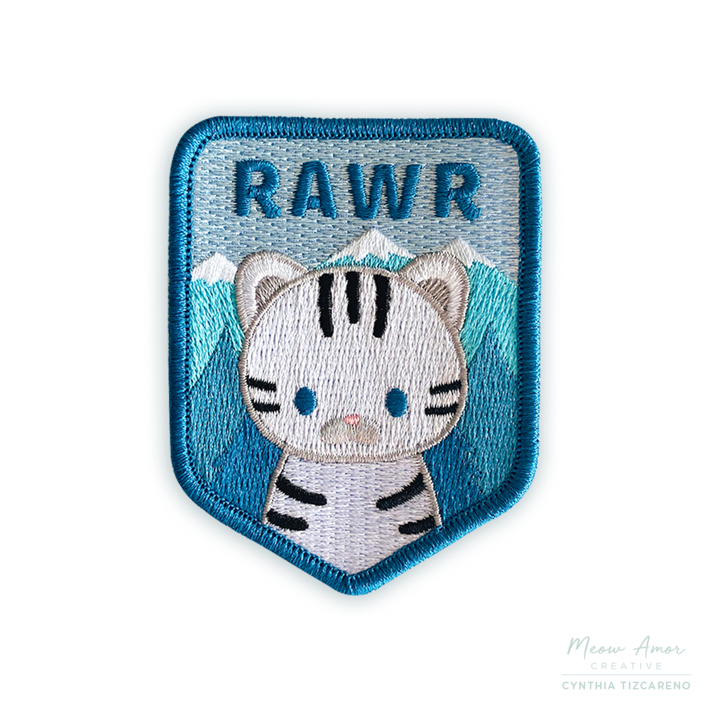 Snow Tiger Iron-On Patch