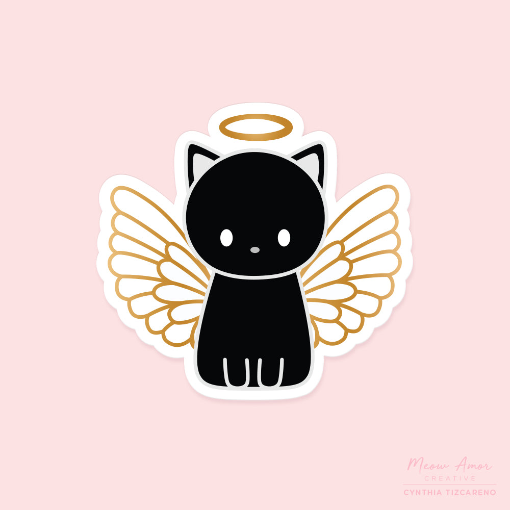Angel Cat Vinyl Sticker