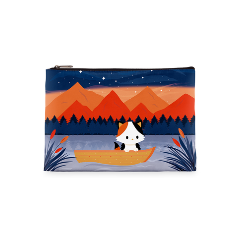 Calico Cat on Boat Zipper Bag