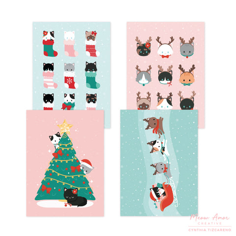 Christmas Card Postcard Set