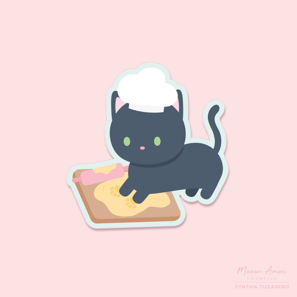 Kneading Cat Vinyl Sticker