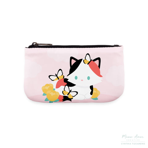 Spring Calico Cat Large Coin Purse