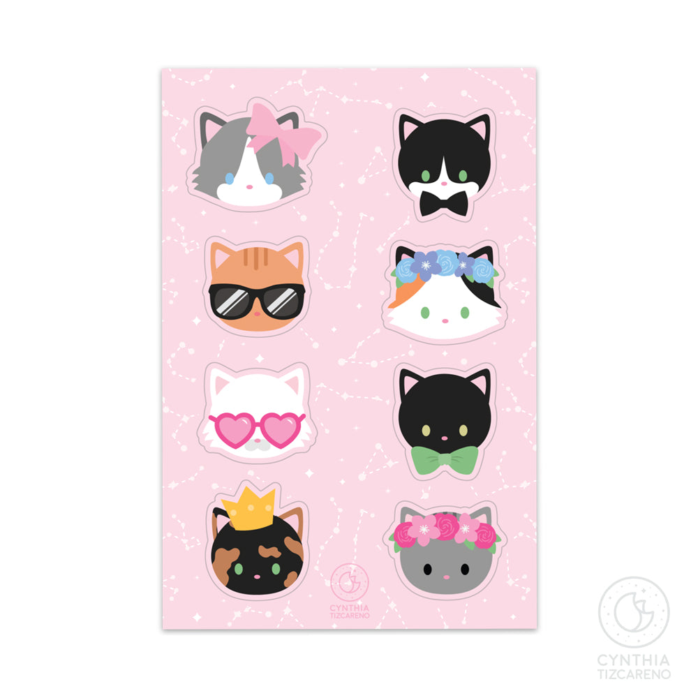 Cute Cat Stickersheet