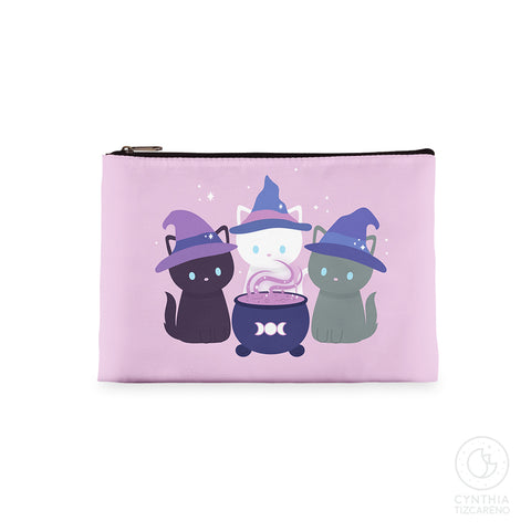 Witch Cat Zipper Bag