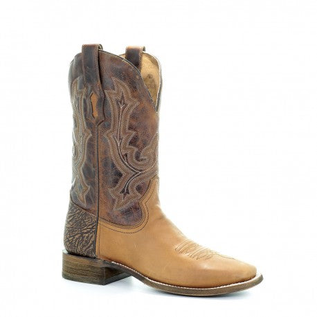 Corral Men's Tyson Golden Square Toe Western Boots A3507
