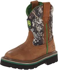 John Deere  Kids Tan And Camo Boots   JD1188 / JD2188