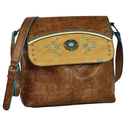 Trenditions Catchyfly Crossbody Turquoise Concho Concealed  Carry   2132527