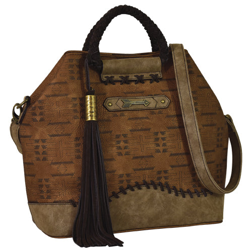 Trenditions Catchfly Jaci Satchel Copper With Aztec   CC   2034583