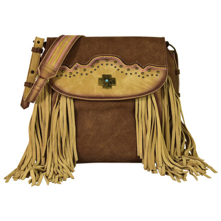 Trenditions Catchfly Crossbody Suede Fringe  CC Purse     2146527