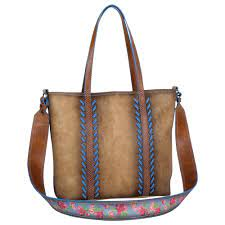 Trenditions Catchfly Julia Tote With Guitar Strap, Burnish Tan    2008556