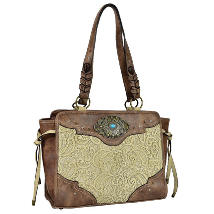 Trenditions Justin Satchel Lace Accents  CC    2116532