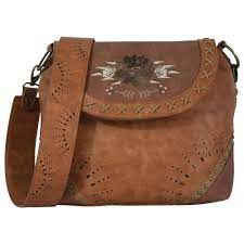 Trenditions Catchfly Ruby Crossbody Flower Embroidery Purse CC   1978527