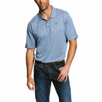 Ariat Mens AC Polo Silver Bullet Stripe  10025512