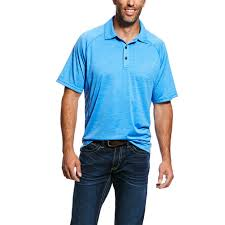 Ariat Mens Charger Polo Ceramic 10026472