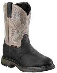 CLOSEOUT-Ariat Mens Black Workhog Composite Toe  Pull On Workboots  10009489