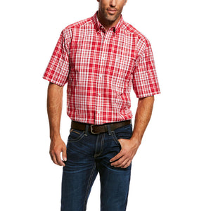 Ariat Men's O'Brian Performance Shirt Crimson Flame  10026482