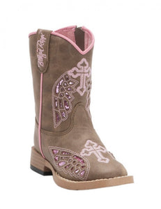 Blazing Roxx Girl's Toddler Wing/Cross Western Boots  4413202