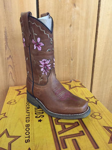 Corral Girls Shedron Flowers Embroidery Boot E1265