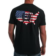 Cinch Mens Crew Neck Front And Back Logo Tee - Black   MTT1690400