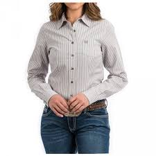 Cinch Womens Stripe Western Shirt MSW9164095