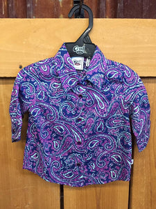 Cruel Girl Toddler Paisley Snap Shirt CTW3302001-PUR