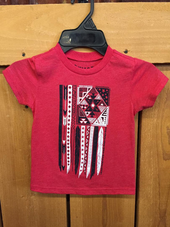 Cruel Girl Toddler Flag Tee  CTT6851010-RED/CTT6851020-RED
