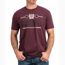 Cinch Mens Classic Crew Logo Tee - Purple(Maroon)    MTT1690337
