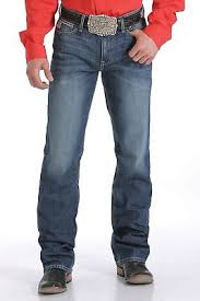Cinch Men's Ian Dark Stonewash Slim Fit Jeans Boot Cut - MB63436001