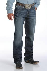 Cinch Mens Grant Performance Denim Relaxed Fit Jeans Boot Cut - MB63237001